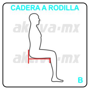 Toma de medidas para silla de ruedas a rodilla