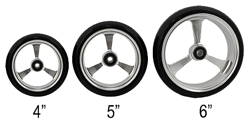 Caster de aluminio para silla de ruedas