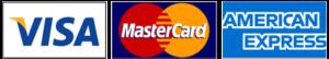 Pago con tarjetas de credito VISA MASTERCARD y AMERICAN EXPRESS
